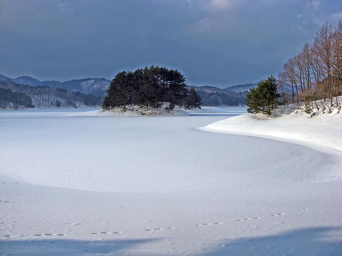 聖湖 冬景色