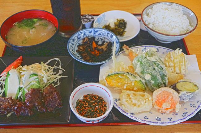 12ほほ肉と天ぷら定食IMG_5810