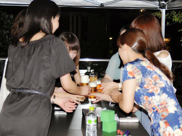 女子会開始の乾杯