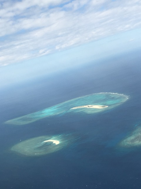 沖縄諸島の空撮画像