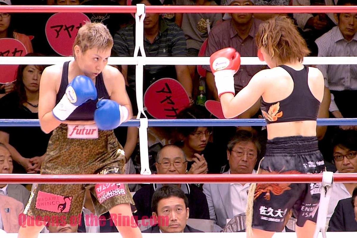 宮尾綾香 VS 安藤麻里 II  しかし、王者宮尾選手も深追いはせず、どちらも必要最小限度しか手