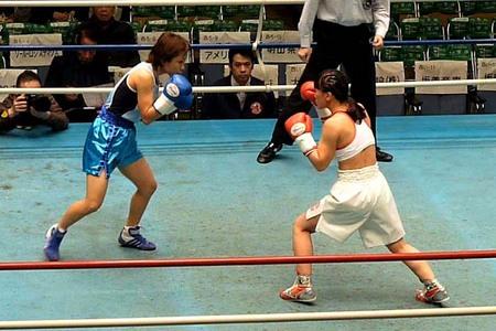 野口智代 vs 上田千穂-1