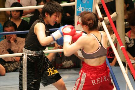 丸山礼子 vs 三好喜美佳 Reiko Maruyama vs Kimika Miyoshi