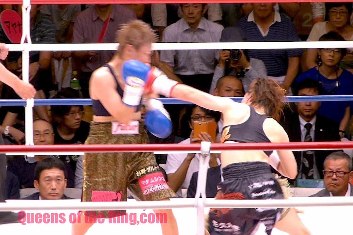 宮尾綾香 VS 安藤麻里 II  完全に機を掴んだ宮尾選手がミドル、ショートを的確に決めて試合を