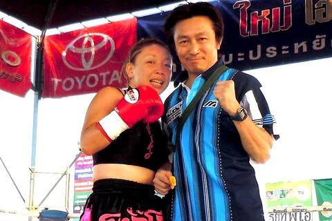 角田紀子選手と野木トレーナー