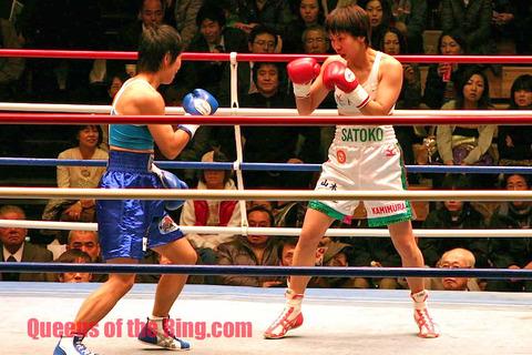 菊川未紀 vs 上村里子第1戦