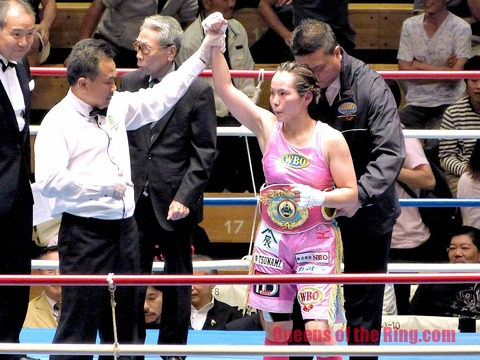 WBO世界ミニフライ級タイトルマッチ 池原シーサー久美子 VS 江畑佳代子