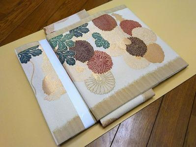 兵庫県三田市 M.Y 様 袋帯から切るタイプの文化帯へ