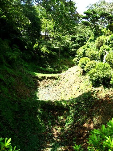 山中城の堀