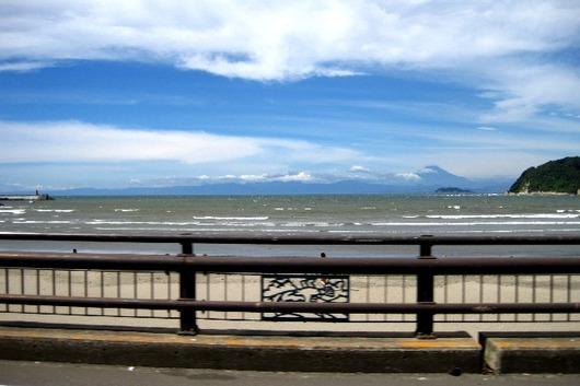 逗子湾 富士と江の島