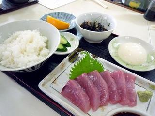 ヨコワ刺身定食