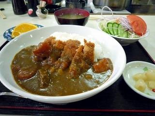 カツカレー定食