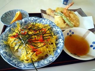 ちらし天ぷら定食