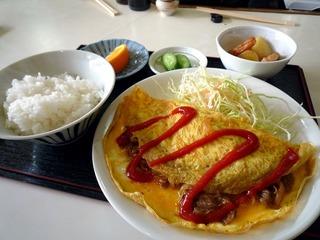 オムレツ定食(日替わり)