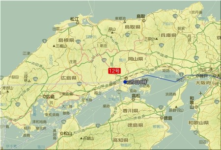 台風12号位置図
