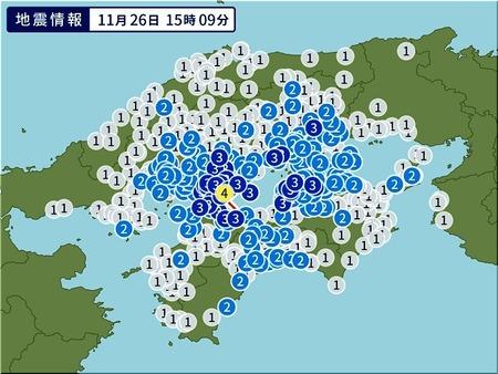 11月26日15時09分瀬戸内海地震