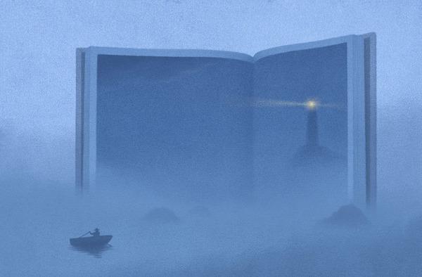 色んな本の形。本をモチーフにしたイラスト (13)