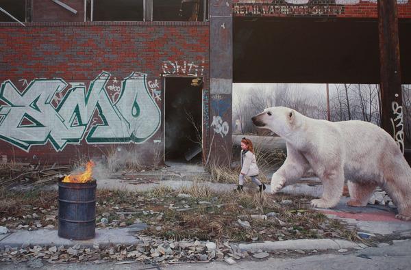 少女と動物と街。壊れた世界のコントラストをリアルに描く (7)