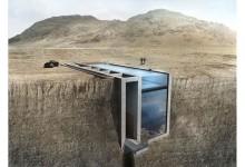 エーゲ海を眺める!崖に埋め込まれた斬新な住居デザイン