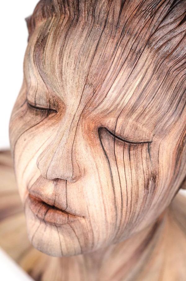 木材の彫刻に見えるセラミック彫刻 (13)
