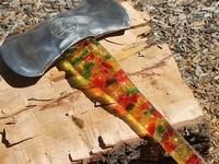 熊グミ斧!クマのグミで可愛い斧の作る方法