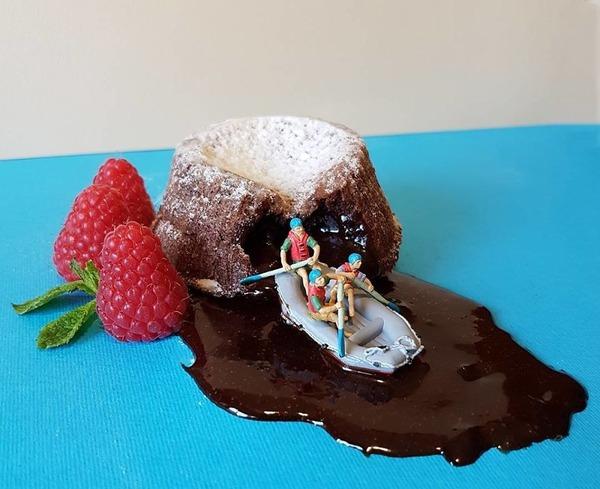 美味しそうな洋菓子で作るミニチュアアート (5)