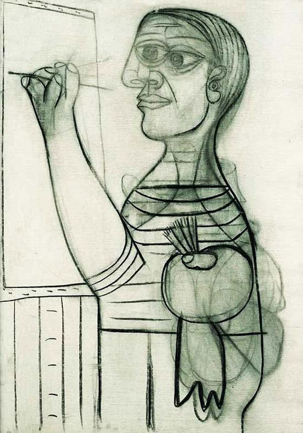 ピカソの自画像!15歳から90歳までの肖像画 (10)