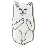 白いにゃんこが中指立ててる!挑発的な猫型スマホケース by RIPNDIP