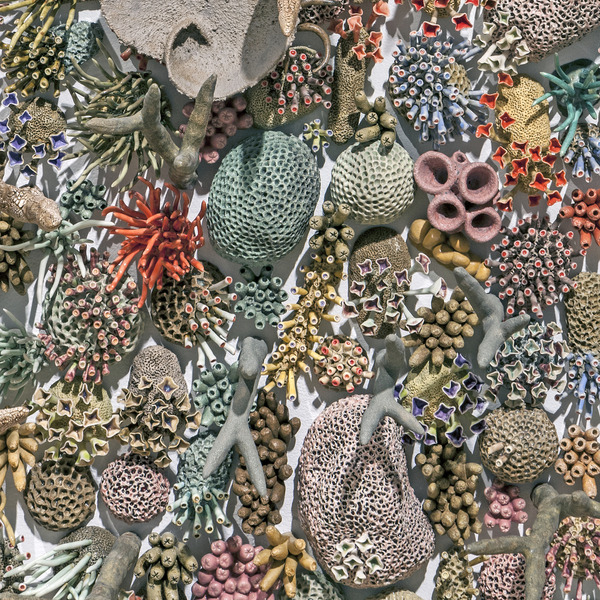 エアダクトから珊瑚礁。陶磁器による彫刻 (12)