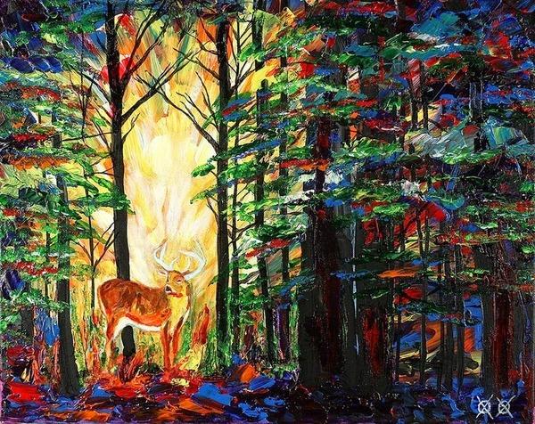全盲の画家、ジョン·ブランブリットの絵画10