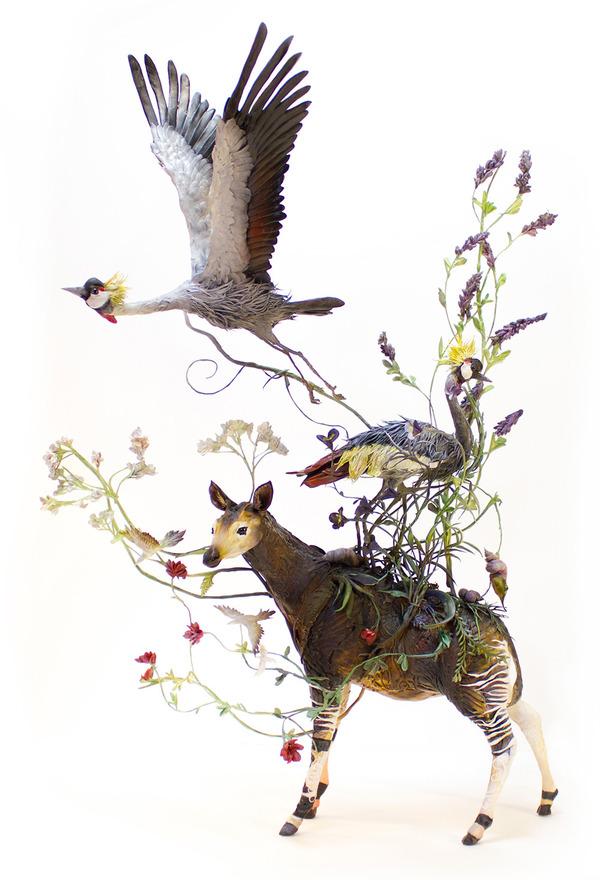 動物と植物が融合した幻想的な彫刻!Ellen Jewettの新作紹介 (9)