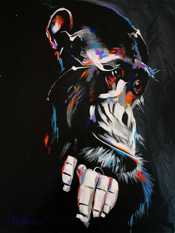 超カラフルな動物の肖像画シリーズ (9)