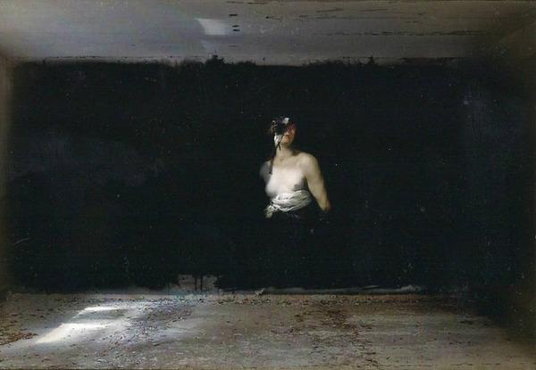 廃墟の壁に描かれたルネサンス風絵画 (5)