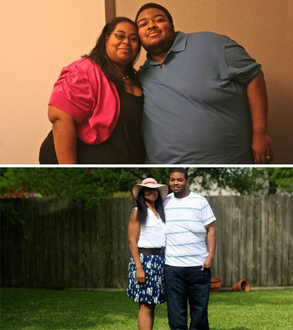 【比較画像】太ったカップルが痩せた (16)