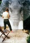 亜鉛線を使って作られた動物の彫刻