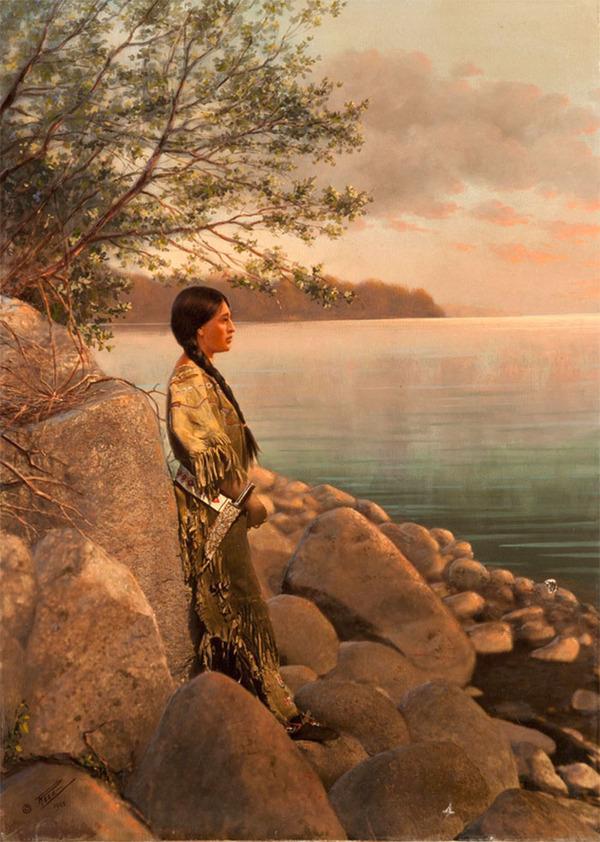 インディアン(ネイティブ・アメリカン)の貴重なカラー化写真 (36)