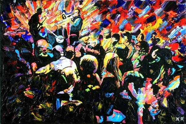 全盲の画家、ジョン·ブランブリットの絵画6