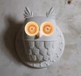 ユニークに明かりを灯すフクロウ型ランプ!Owl Lamp