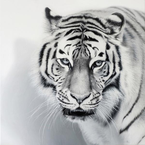 超繊細!ヒョウやライオンなどの野生動物をリアルに描いた絵画 (6)