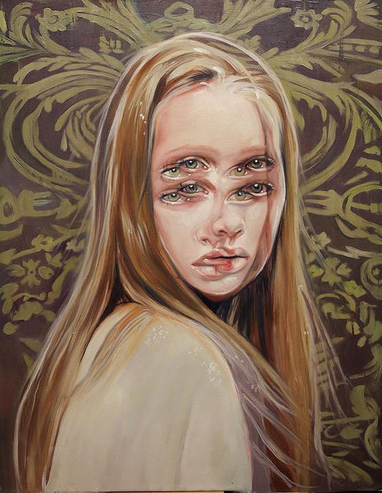 ダブルビジョンの錯視絵画アート  アレックス・ガーランド 9
