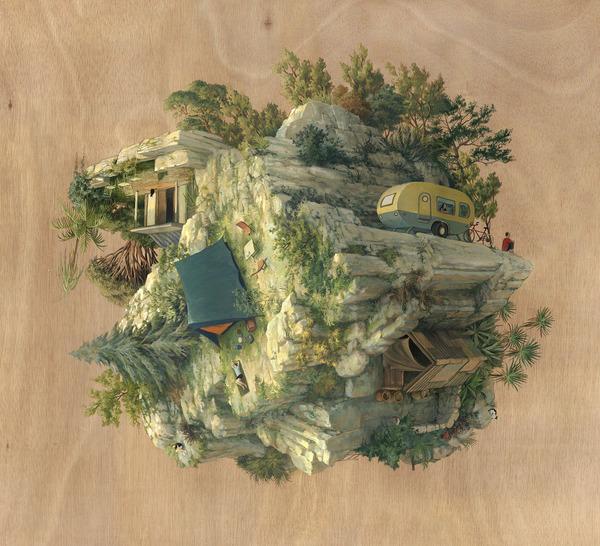 チンダビダルの錯視的絵画アート Cinta Vidalby