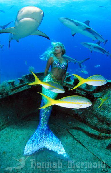人魚のようなハンナ・フレイザー(Hannah Fraser) 4