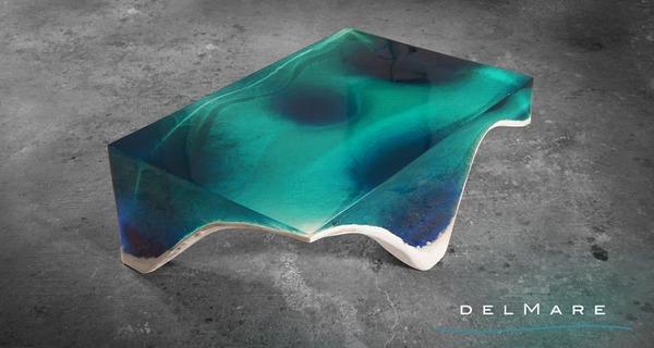 清涼感が半端ない!海からインスピレーションを得たテーブル (1)