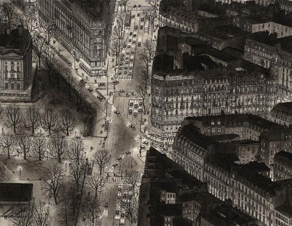 超精密!記憶を頼りに世界の都市景観を描くモノクロ絵画 (12)