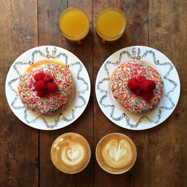 美味しさ2倍!毎日シンメトリーな朝食写真シリーズ (35)