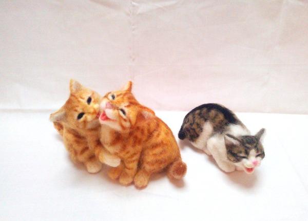羊毛フェルトのリアル猫人形4