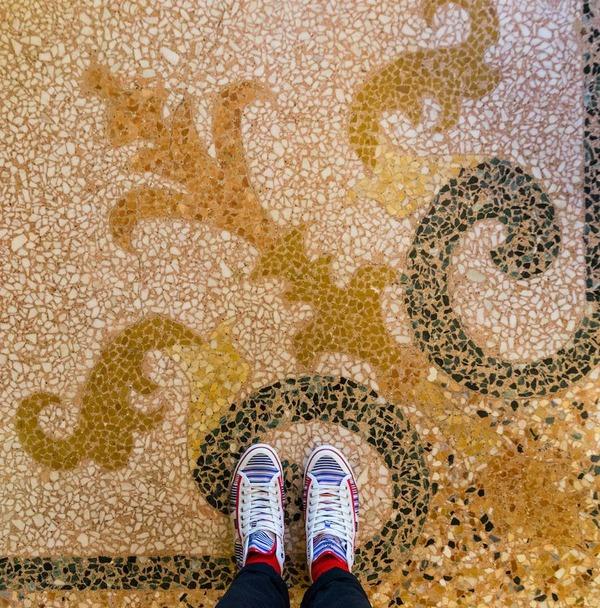 色んな床いっぱい。イタリア、ヴェネツィアの床のデザイン (2)
