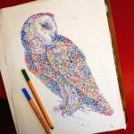 超カラフルな動物の水彩画!色とりどりの点によって描かれる