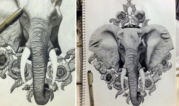 ひたすらに点を打って描く!超繊細な手描きドット絵 (9)