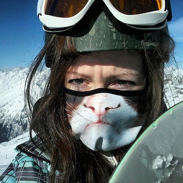 動物気分でスキー!動物の顔がプリントされたフェイスマスク (5)